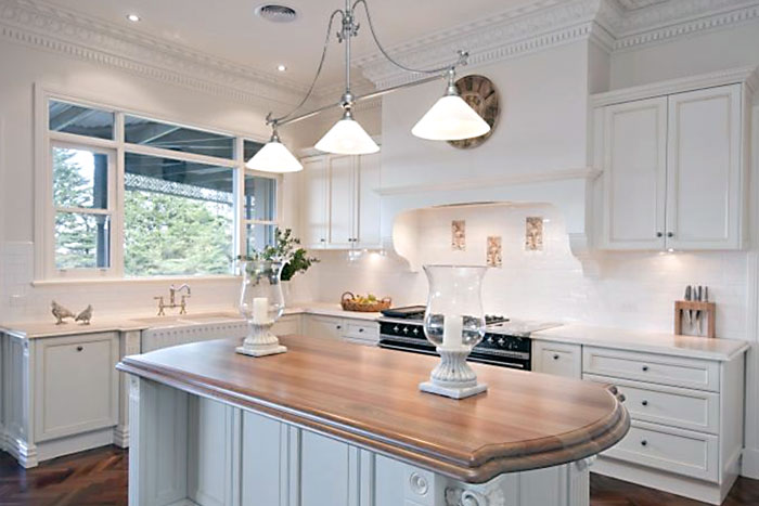 Instead, if you're looking for something classic and lasting, Grandview  Kitchens can design and build a French Provincial kitchen for you.